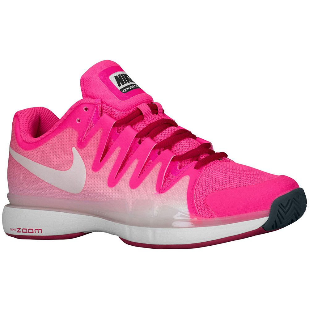 NIKE Women`s Vapor Court Tennis Shoes Pink Pow and Dove Gray