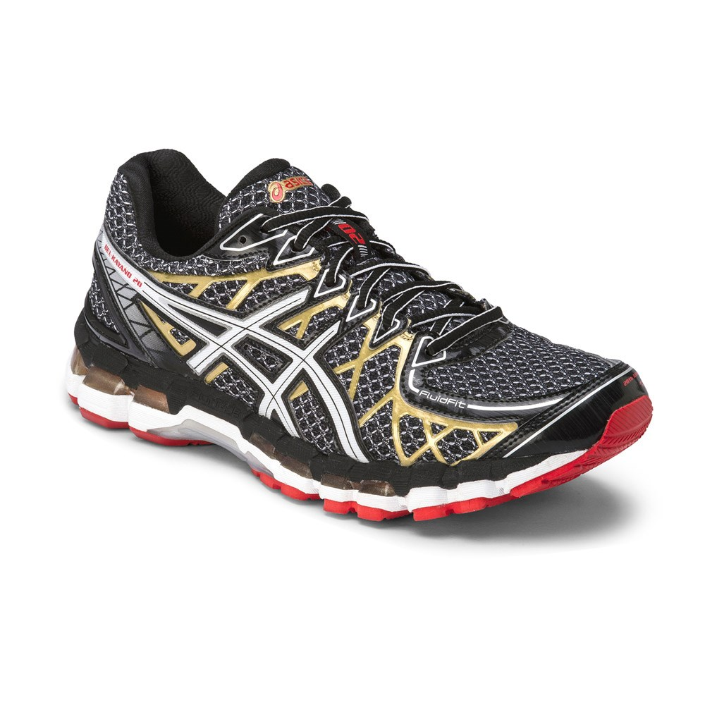 asics gel kayano black and gold