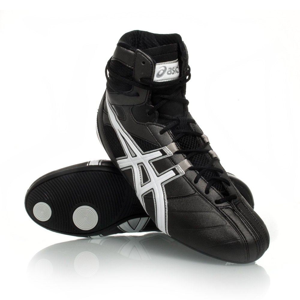Asics Smasher - Mens Boxing/Wrestling/Martial Arts Shoes - Black/White