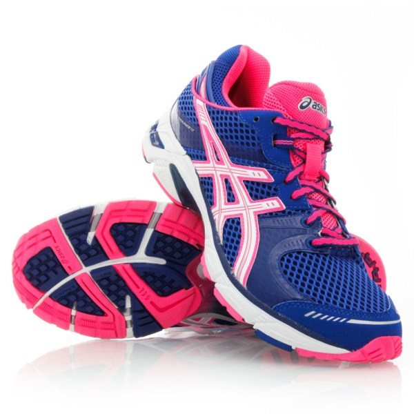 asics blue and pink trainers mens