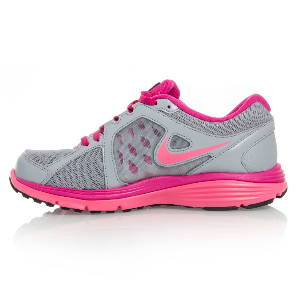 nike dual fusion run msl womens running shoes grey pink. Black Bedroom Furniture Sets. Home Design Ideas