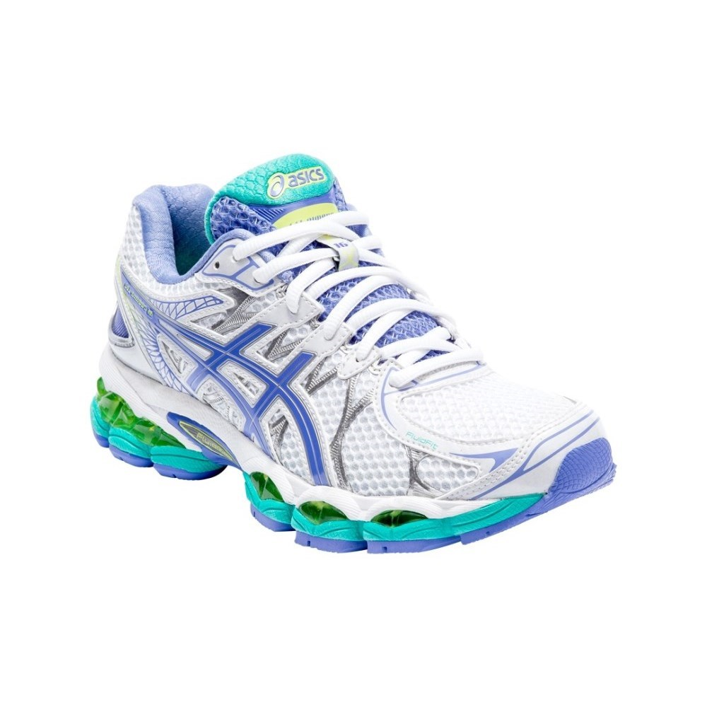 buy asics gel nimbus 16 2a womens running shoes white periwinkle mint slashsport. Black Bedroom Furniture Sets. Home Design Ideas
