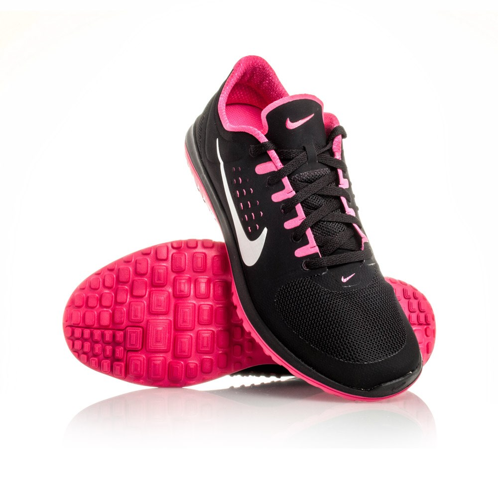 Nike FS Lite Run - Womens Running Shoes - Black/Metallic/Vivid Pink