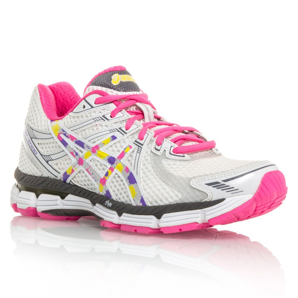 40 asics gt 2000 womens running shoes white pink