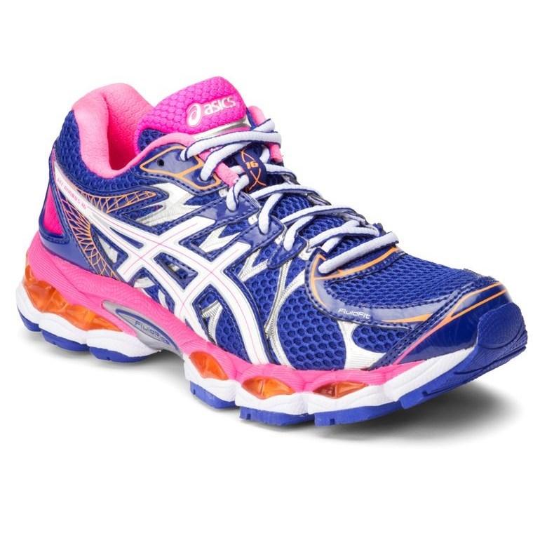 asics gel nimbus 13 womens (white-pink) running shoes