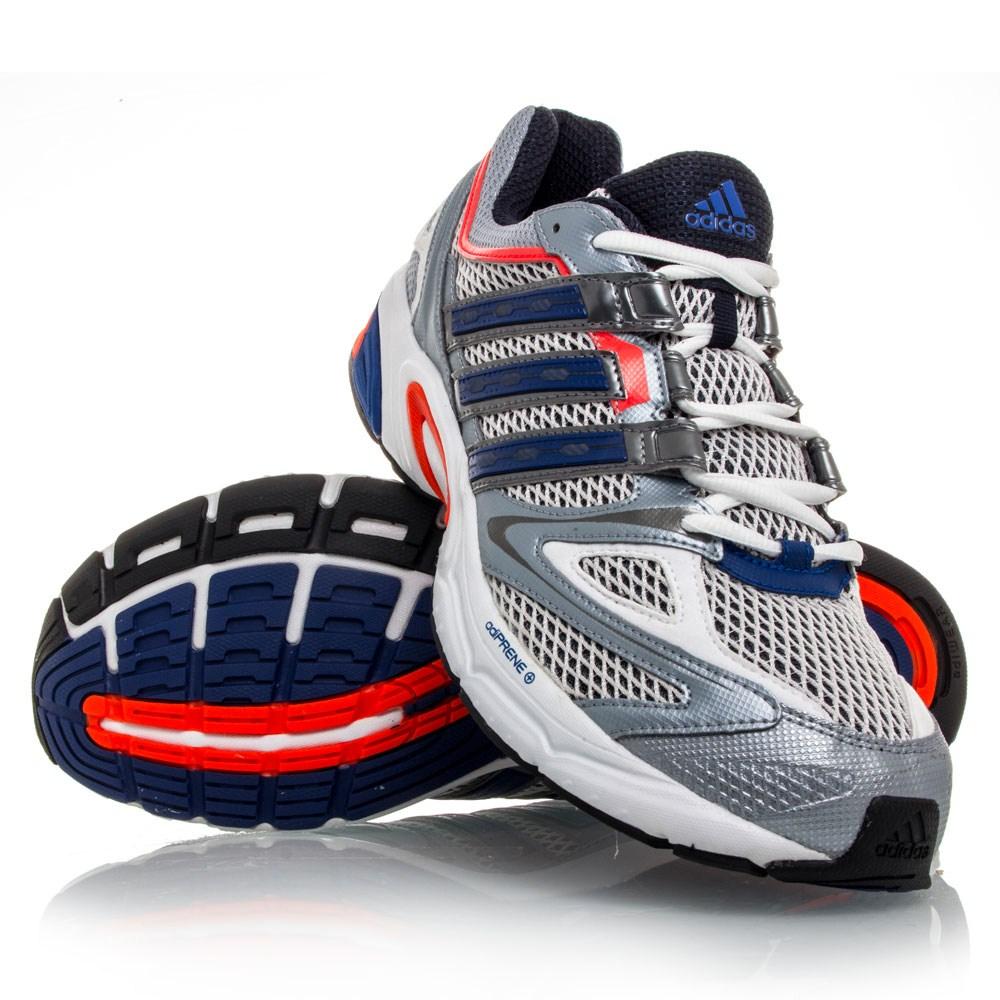 33% Off Adidas Exerta 4 - Mens Running Shoes - White/Blue/Orange
