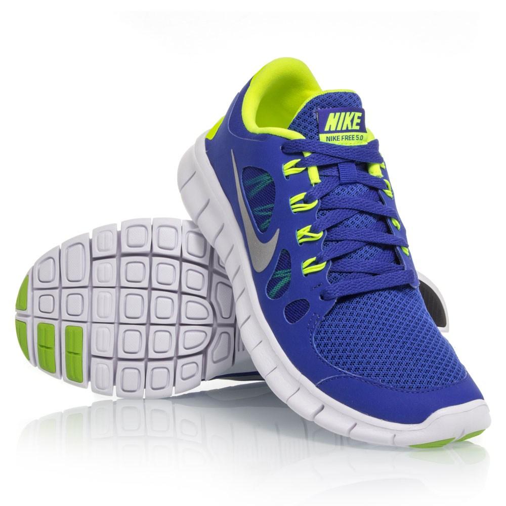 buy nike free 5 0 gs boys running shoes blue