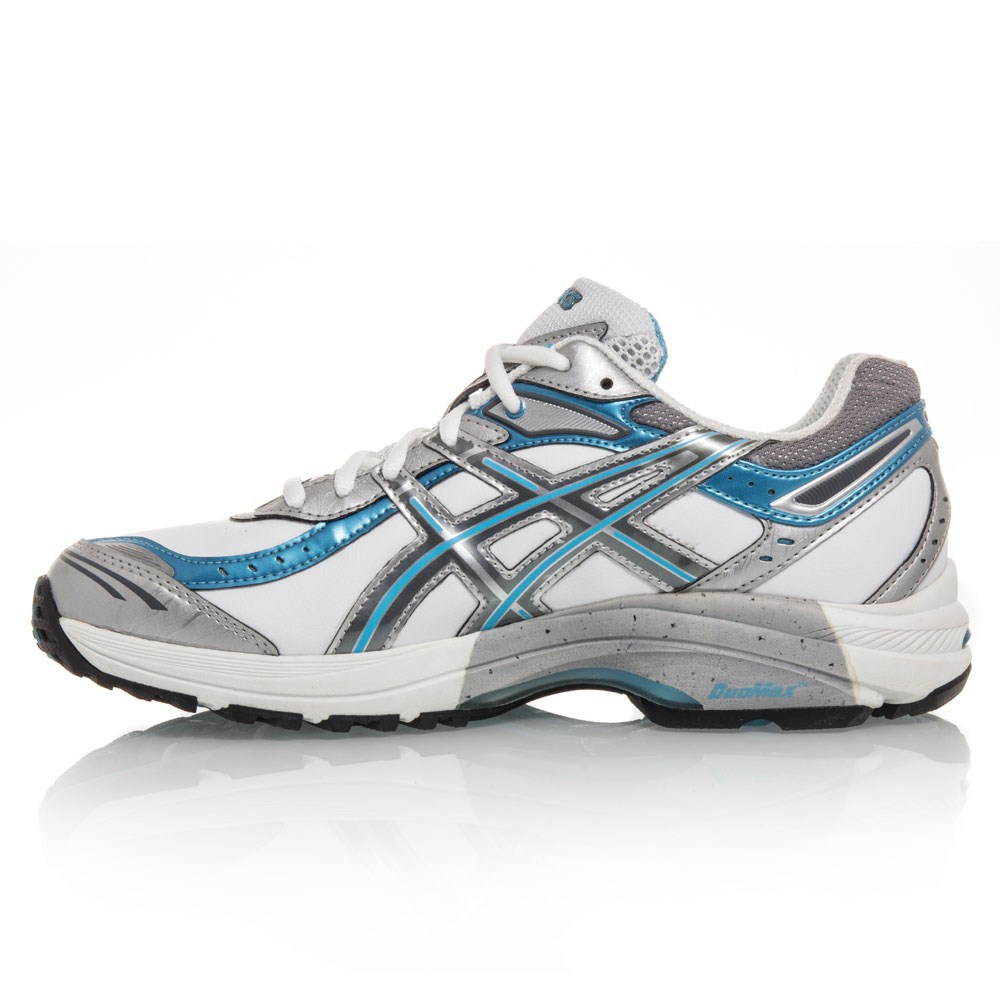 Asics Gel 1140 Walker - Womens Walking Shoes - White/Storm/Capri Blue