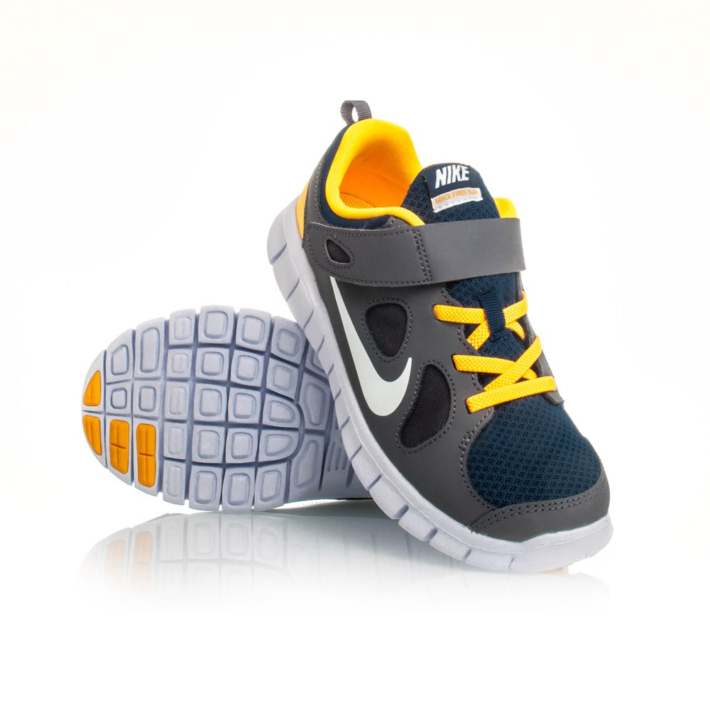 Buy Nike Free 5.0 PSV - Kids Boys Running Shoes - Grey .
