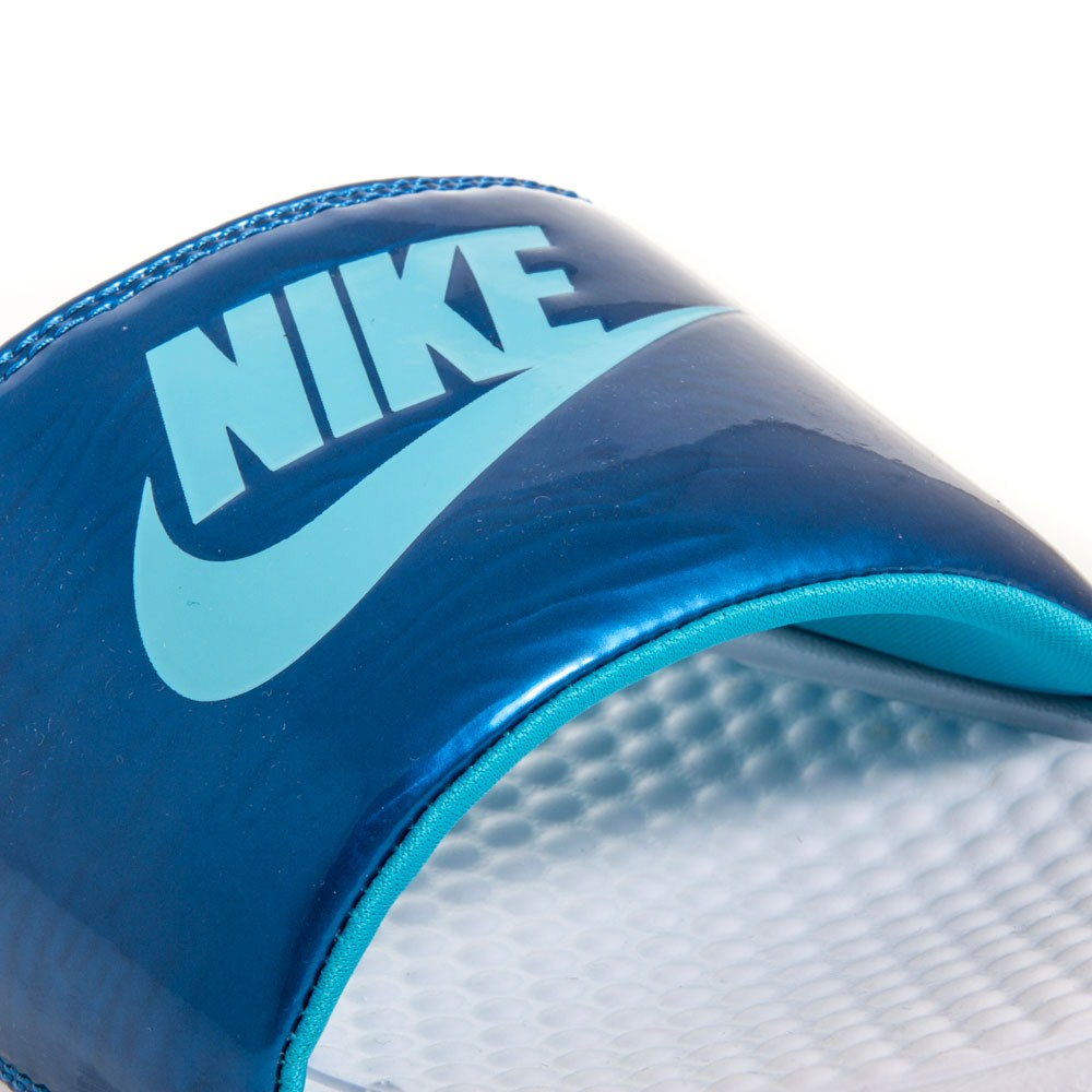 Perfect Nike Benassi JDI  Womens Slides  BlueBlack Online  Sportitude
