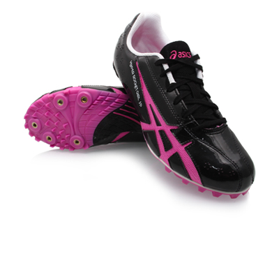 Asics Rocket Girl SP 3 - Womens Sprinting Shoes - Black/Pink