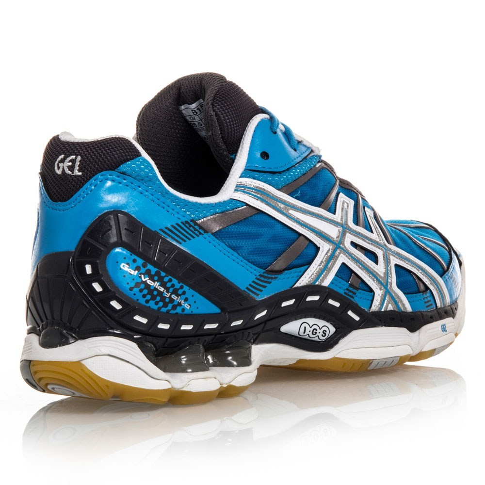 Asics Gel Volley Elite - Womens Volleyball Shoes - Blue/White/Black