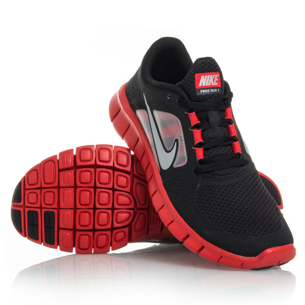 buy nike free run 3 gs junior boys running shoes black