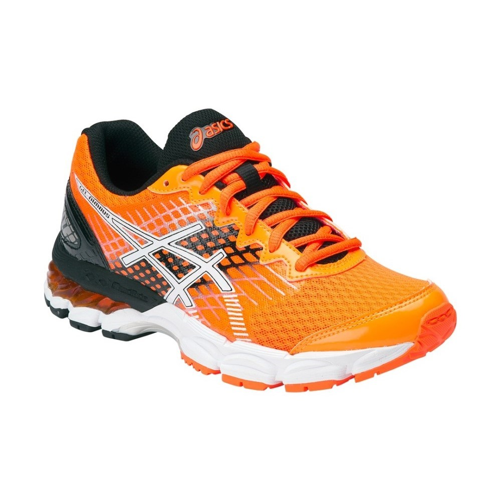 buy asics gel nimbus 17 gs kids boys running shoes hot orange black white slashsport. Black Bedroom Furniture Sets. Home Design Ideas