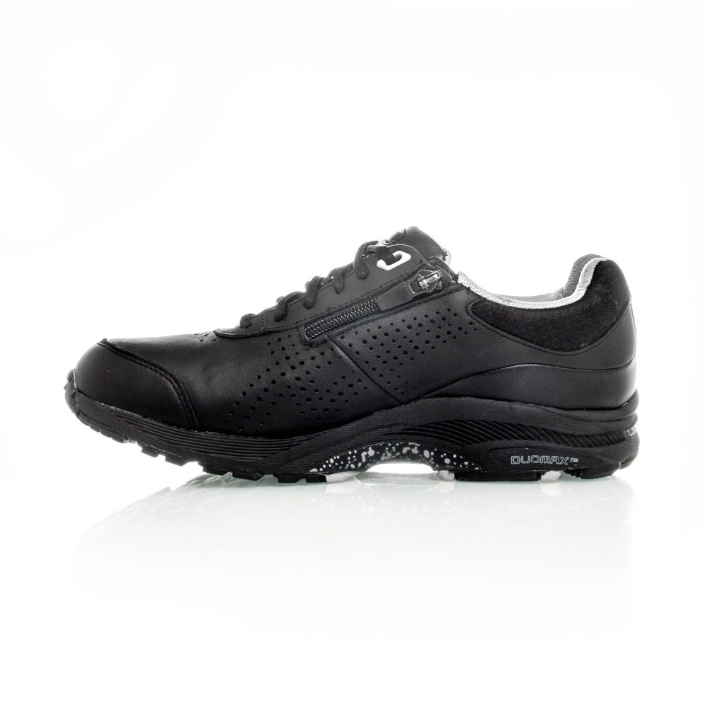Asics Gel Cardio Zip 2 (D) - Womens Walking Shoes - Black/Grey