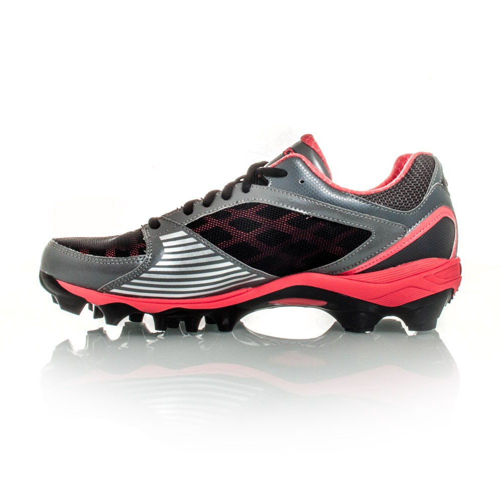 Asics Gel Lethal Touch Pro 5 - Womens Turf Shoes - Black/Silver/Pink