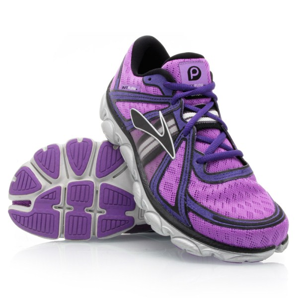 Brooks PureFlow - Womens Running Shoes - Purple/Black/Silver