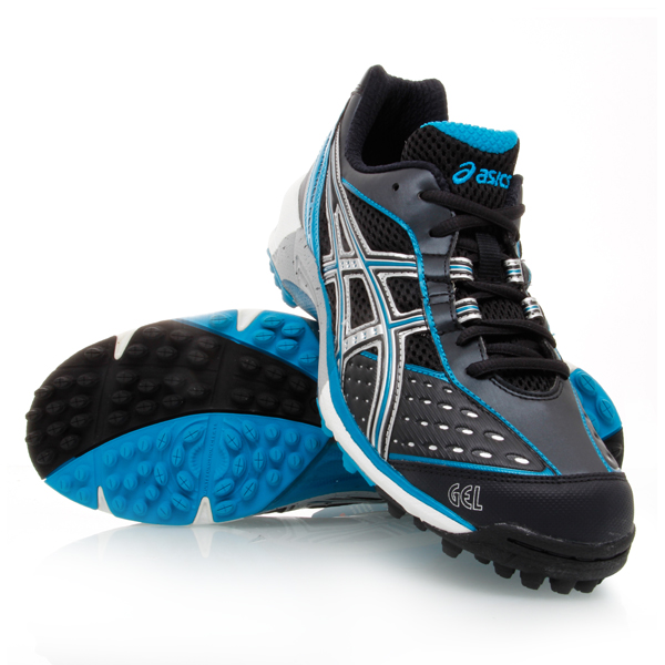 33% Off Asics Gel Hockey Neo - Womens Hockey Shoes - Black/Aqua/Silver