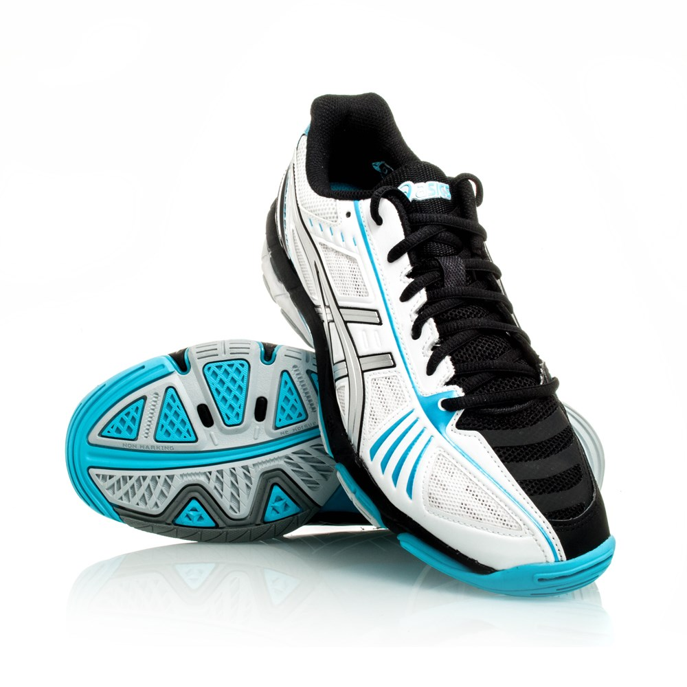 Blue Asics Volleyball Shoes Asics gel volley elite 2