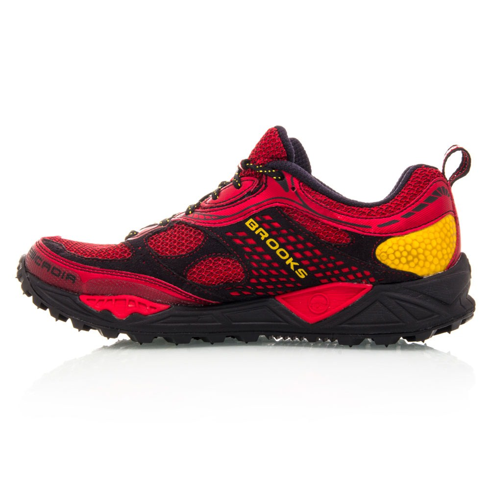 Brooks Cascadia 6 - Mens Trail Running Shoes - Red/Yellow/Black