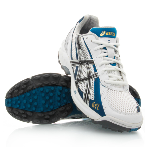 Asics Gel Lethal Elite 4 - Mens Turf Shoes - White/Black/Slate Blue