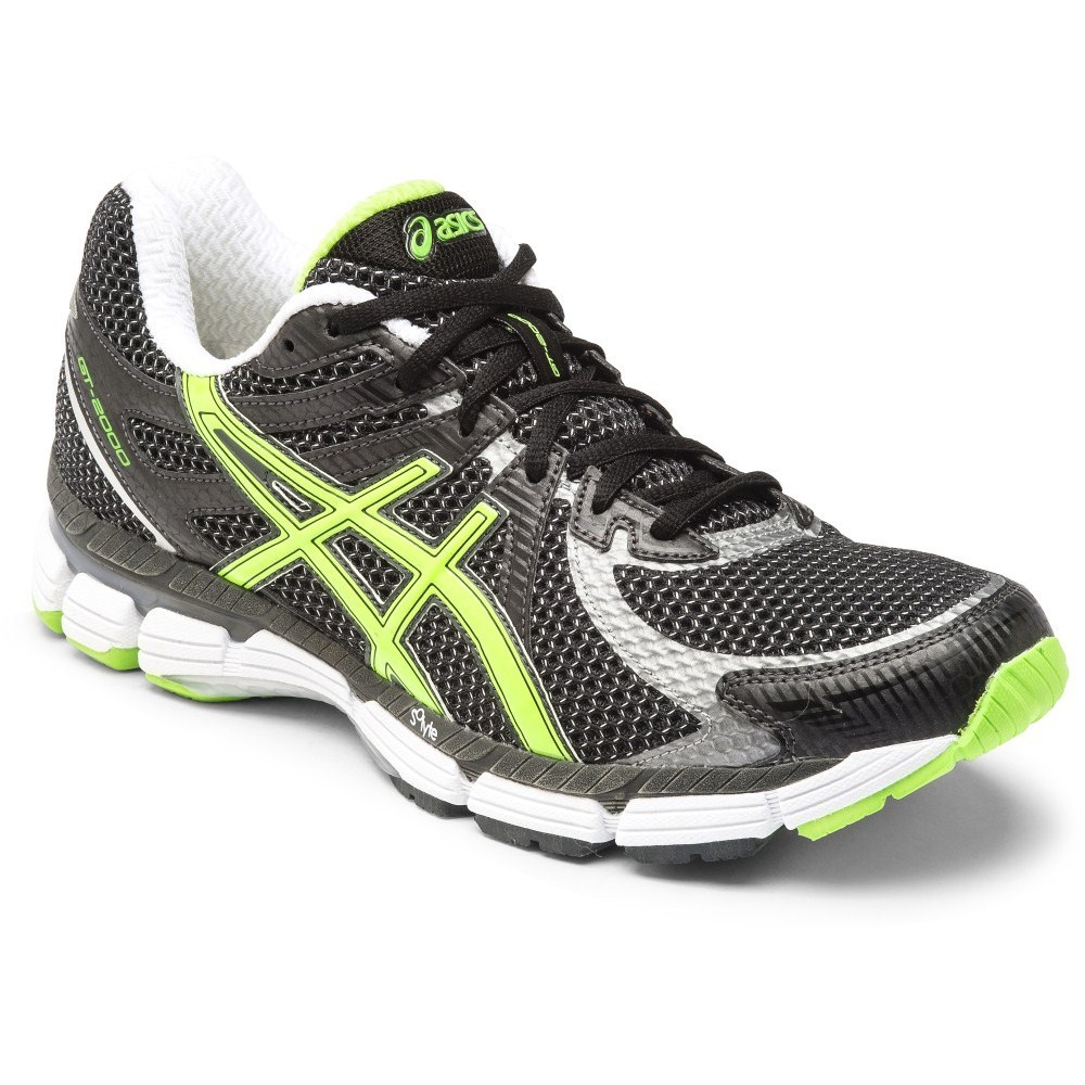 15 asics gt 2000 mens running shoes black lime