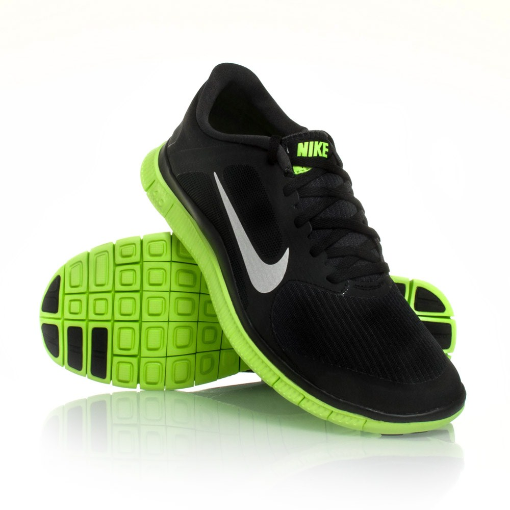 12 nike free 4 0 v3 mens running shoes black