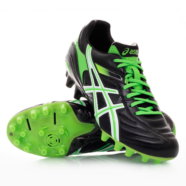 Asics Green And Black Footy Boots