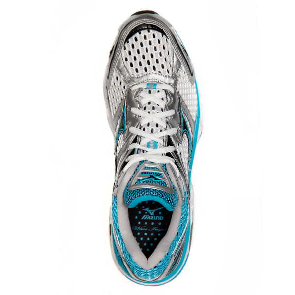 Mizuno Wave Inspire 7 2A - Womens Running Shoes - White/Blue/Black