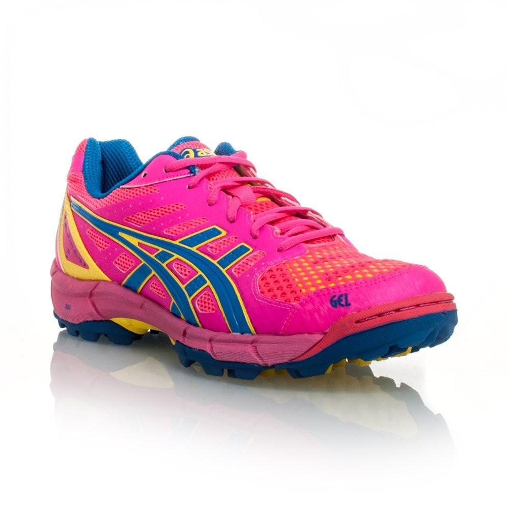 Asics Gel Lethal Elite 5 - Womens Turf Shoes - Hot Pink/Angela Blue