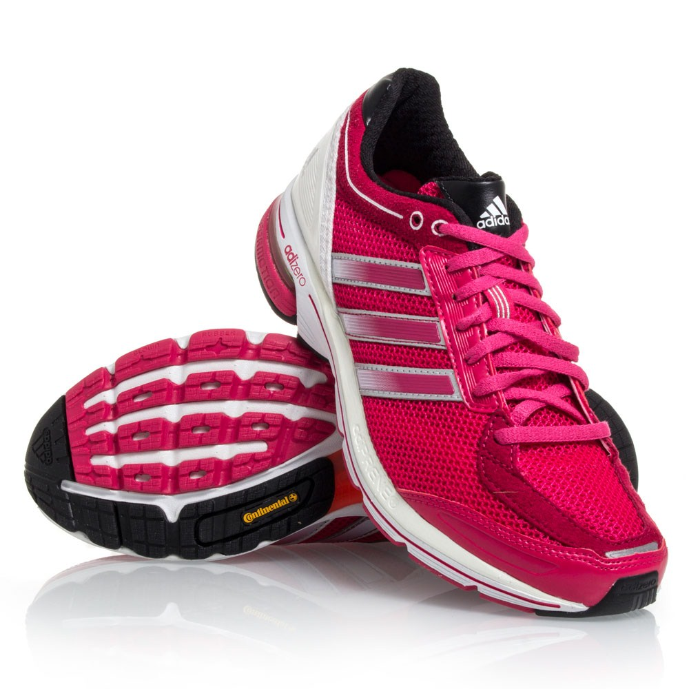 Adidas Adizero Boston 3 - Womens Running Shoes - Pink/Black/White