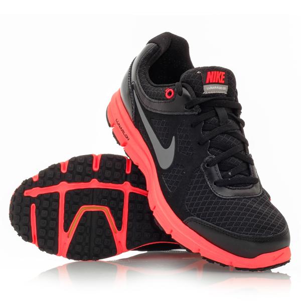 Nike Women's Lunar Trainer Women's Running Shoe (Bright Crimson/Volt/White/Light