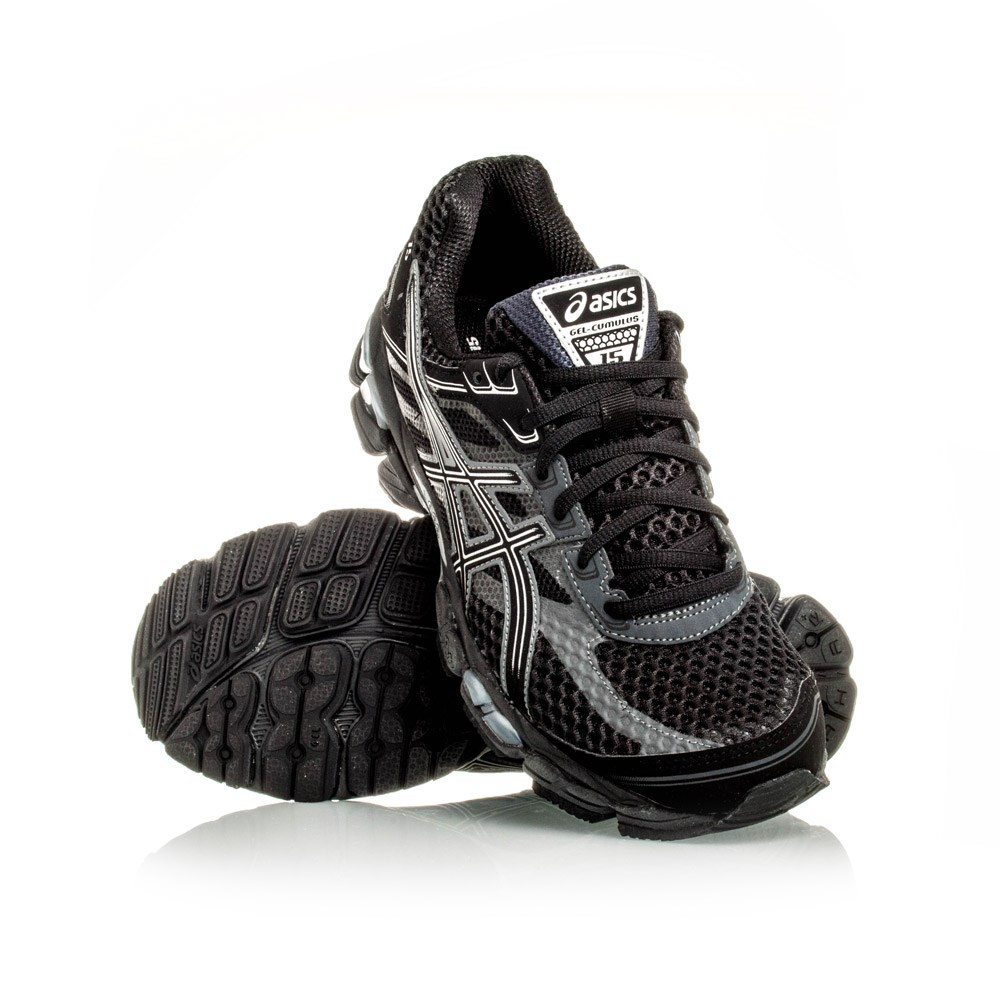 asics gel cumulus 15 pink and black