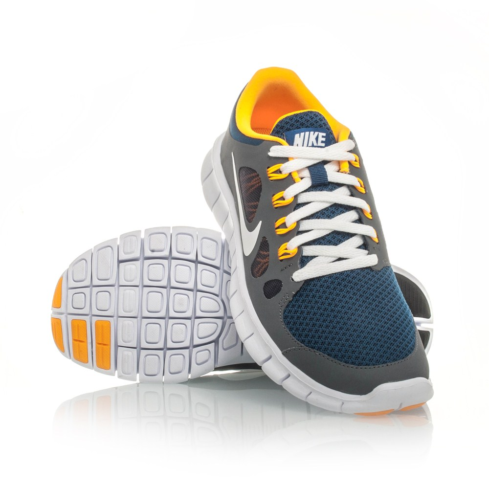 20% Off Nike Free 5.0 GS - Kids Boys Running Shoes - Grey/Yellow