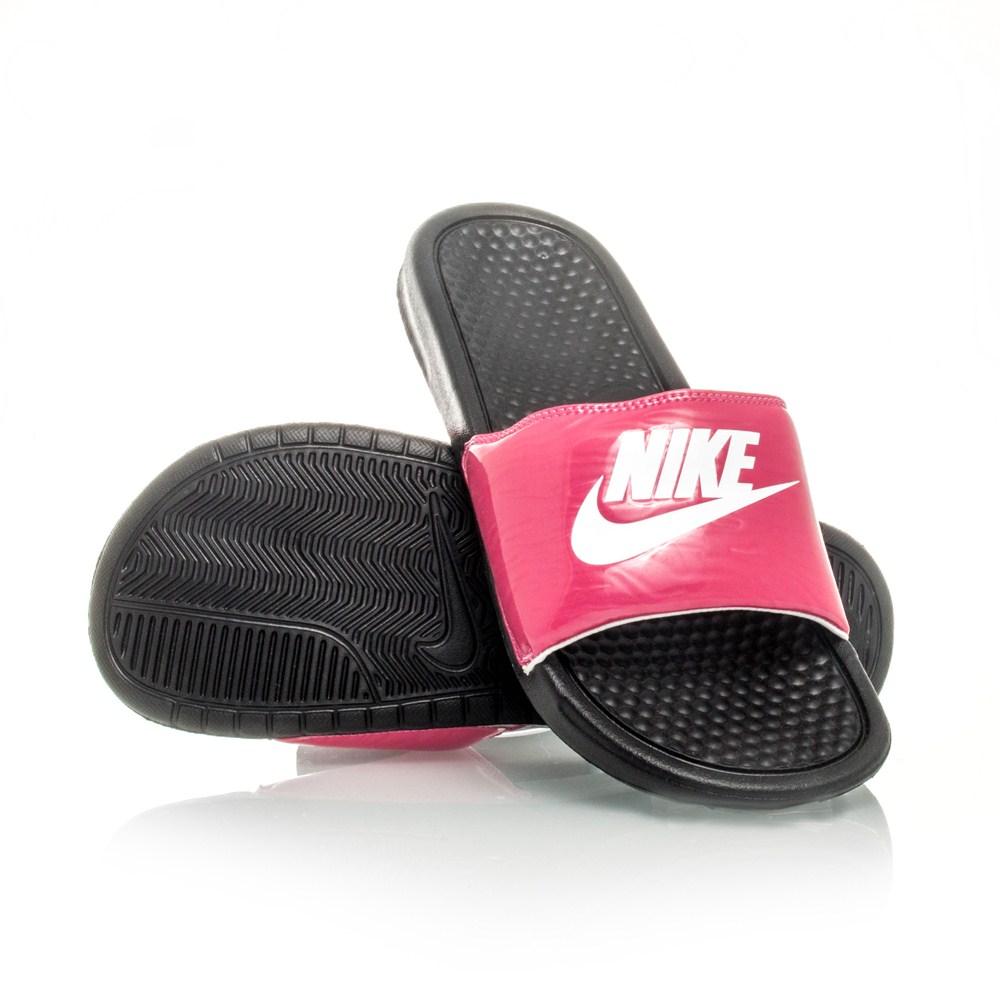 Awesome Nike Women39s Benassi JDI Slide Sandals Black Amp Vivid Pink 343881 Nik