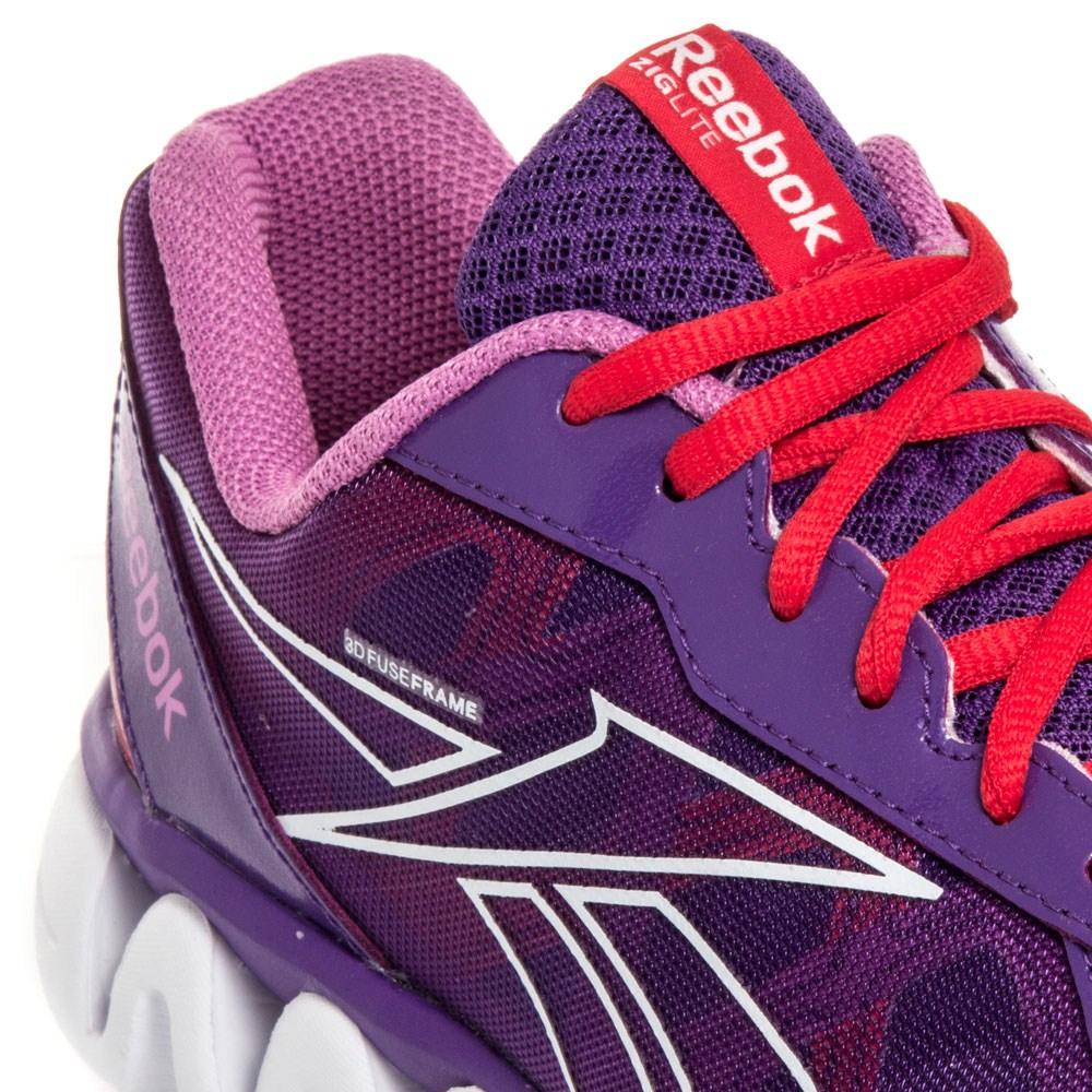 Reebok Ziglite Rush - Junior Girls Running Shoes - Purple/Red/White