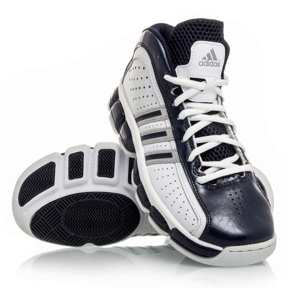 Adidas Floater Glide - Junior Basketball Shoes - White/Navy/Silver